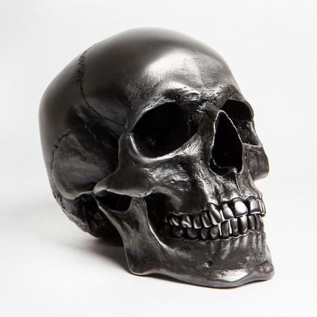 Human Skull // Gunmetal Steel