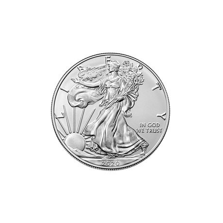2020 1 oz American Silver Eagle // Mint State Condition // American Premier Series // Wood Presentation Box