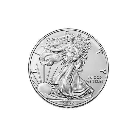 2020 1 oz American Silver Eagle // Icons of American Coinage Series // Deluxe Display Box