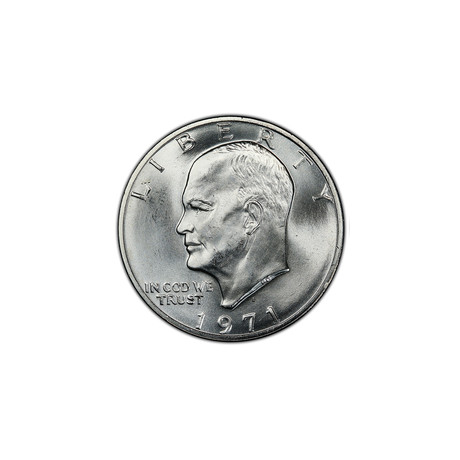 U.S. Eisenhower Silver Dollar (1971-1974) // Mint State Condition // Icons of American Coinage Series // Deluxe Display Box