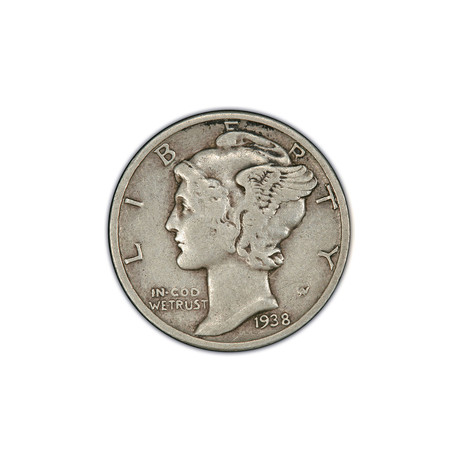 U.S. Mercury Silver Dime (1916-1945) // Icons of American Coinage Series // Deluxe Display Box