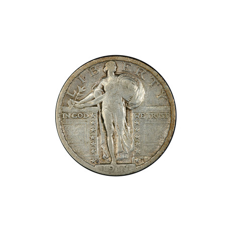 U.S. Standing Liberty Silver Quarter (1917-1930) // Icons of American Coinage Series // Deluxe Display Box