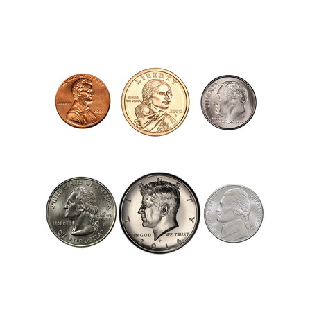 21st Century American 6-Coin Type Set // Mint State Condition  // Relics of a Bygone Era Series // Wood Presentation Box
