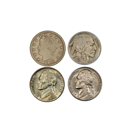 20th Century U.S. Nickel Collection // Relics of a Bygone Era Series // Wood Presentation Box