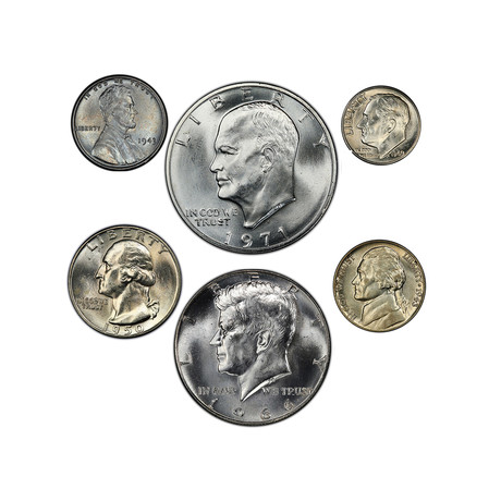 United States Silver Presidential 6-Coin Set // American Classics Series // Wood Presentation Box
