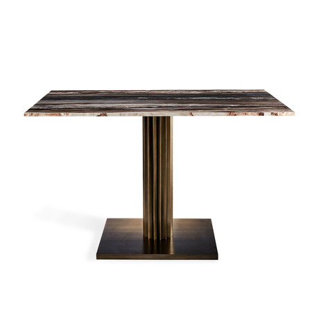 Annick Dining Table (Antique Bronze + Palisandro)