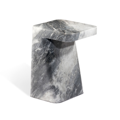 Hunt Side Table (Carrara White)