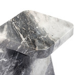 Hunt Side Table (Carrara White)