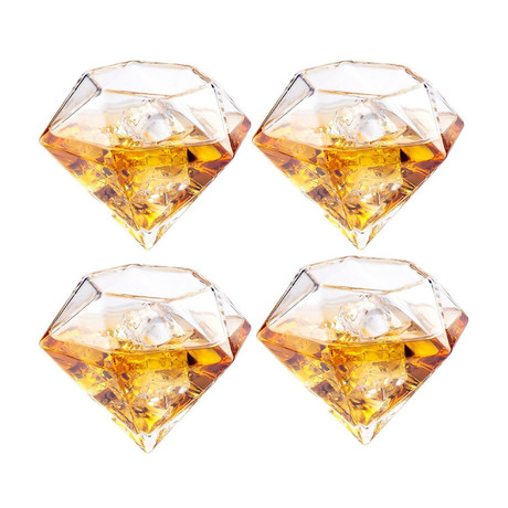Diamond Glasses // Set of 4