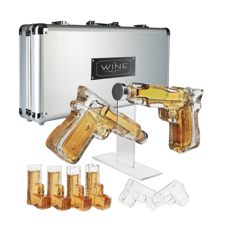 Pistol Decanter Set