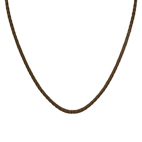 Men's Silver + Leather Cord // Brown