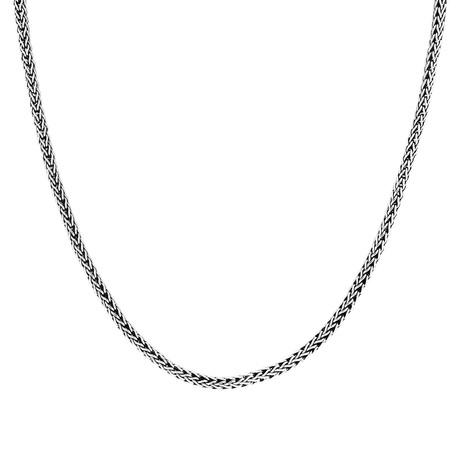 """Men's Woven Tulang Naga Chain // Silver (22""""L // 35g)"""