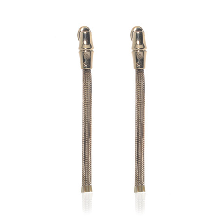 Gucci 18k Yellow Gold Bamboo Earrings // Store Display