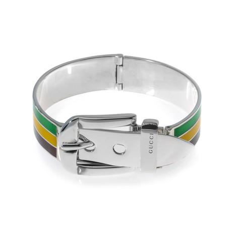 Gucci Sterling Silver Stripe Bracelet II // Store Display