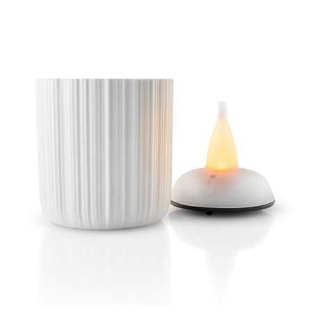 Porcelain Tea Light Holder + Warm Glow LED (Small)