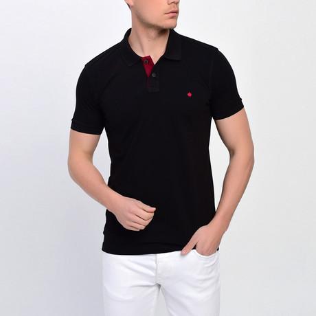 Ross Short Sleeve Polo // Black (S)