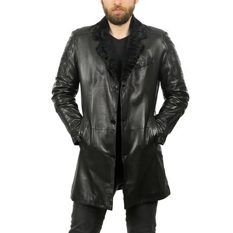 Braxton Leather Jacket // Black (3XL)