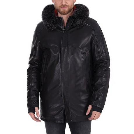 Aber Leather Jacket // Black (XS)