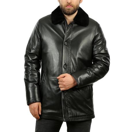 Sagis Leather Jacket // Black (XS)