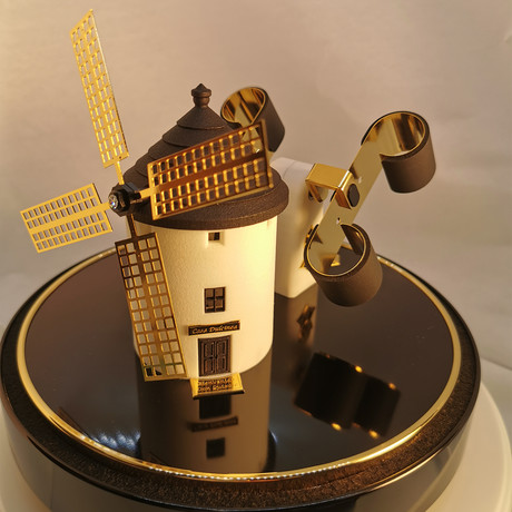 Spanish Windmill // Black + Gold
