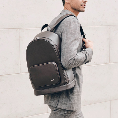 F30 Leather Backpack // Brown