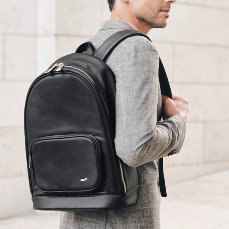 F30 Leather Backpack // Black