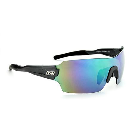 Vapor Sunglasses // Matte Carbon // Interchangeable Lenses