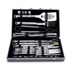 Essentials 33 Piece Stainless Steel BBQ Set + Case // Cubo