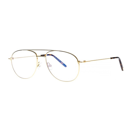 Men's Aviator Blue Light Blocking Glasses // Gold