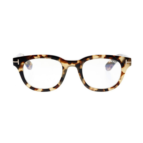 Men's Square Blue Light Blocking Glasses // Havana