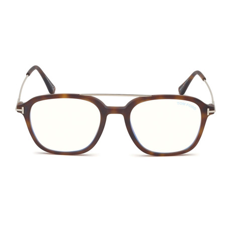 Men's Square Blue Light Blocking Glasses // Gold + Tortoise