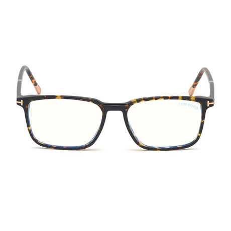 Men's Rectangle Blue Light Blocking Glasses // Dark Havana