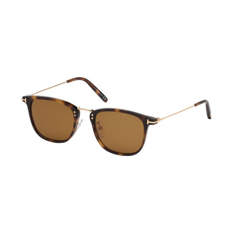 Men's Beau Sunglasses // Tortoise + Gold + Brown