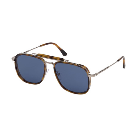 Men's Huck Sunglasses // Tortoise + Blue Gray