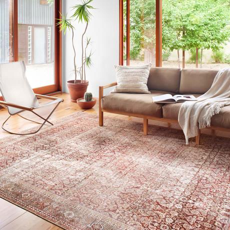Layla Oriental Area Rug // Cinnamon + Sage // 9' x 12'