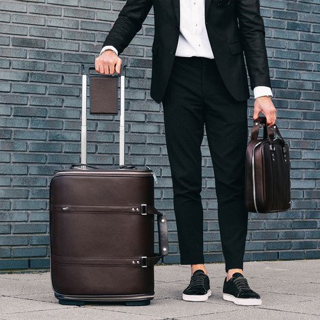 F38 Leather Carry-On Luggage // Brown