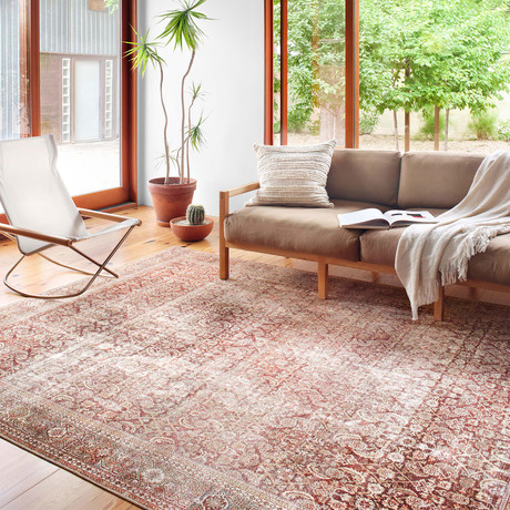 Layla Oriental Area Rug // Cinnamon + Sage (2'3 x 3'9)