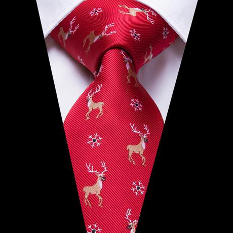Merry Handmade Silk Tie // Red