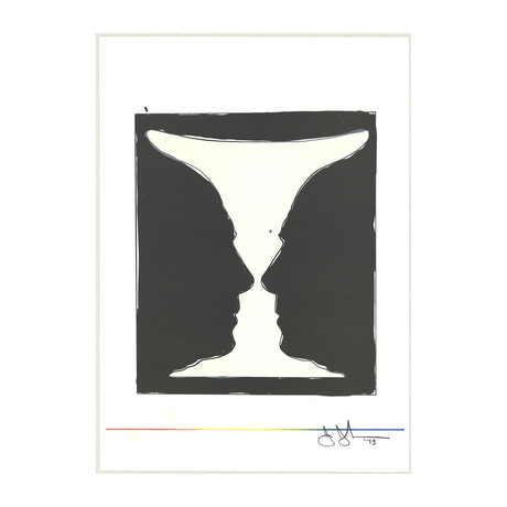Jasper Johns // Cup, Two Picasso Profiles // 1973 Lithograph