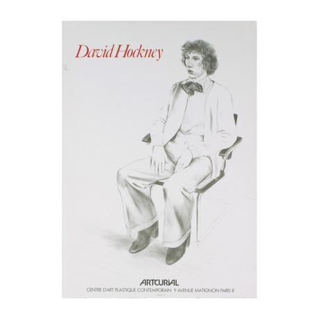 David Hockney // // Portrait of Gregory Evans // 1979 Lithograph