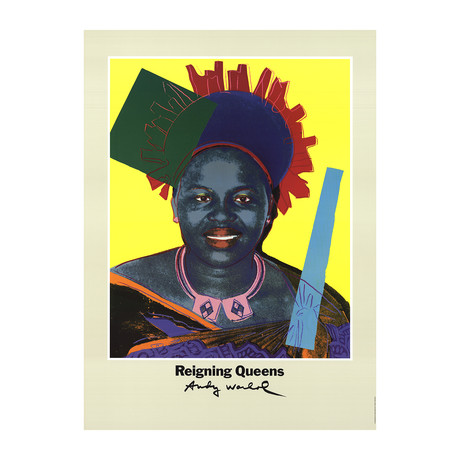 Andy Warhol // Queen Ntombi Twala Of Swaziland // 1986 Offset Lithograph
