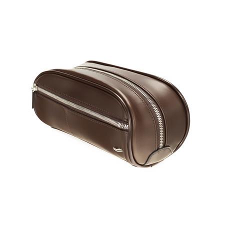 F12 Leather Dopp Kit // Brown