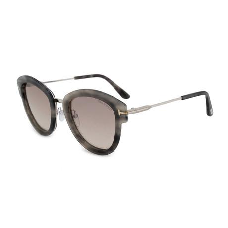 Women's Mia Sunglasses // Gray Havana + Silver Mirror