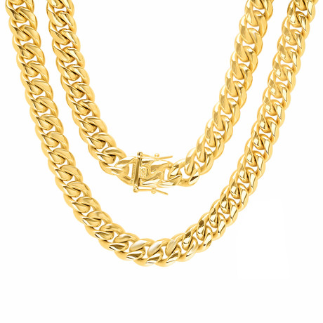 Miami Cuban Chain Necklace // Gold Plated
