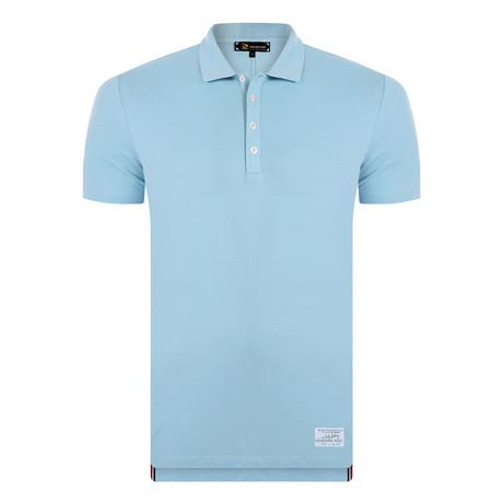Aaron Short Sleeve Polo Shirt // Blue (XS)