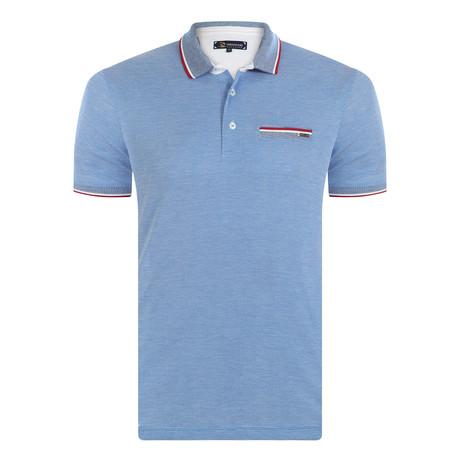 Bobby Short Sleeve Polo Shirt // Sax (XS)
