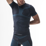 Iron-Ic // Running Short Sleeve Shirt 6.0 // Blue + Bluette (S/M)