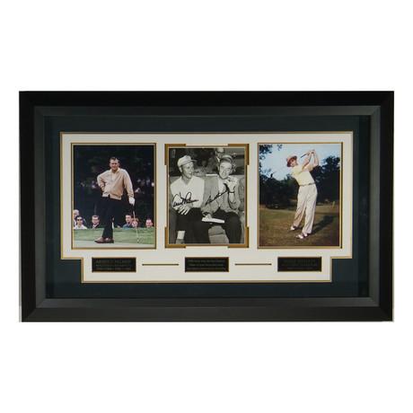 Arnold Palmer + San Snead // Autographed Display