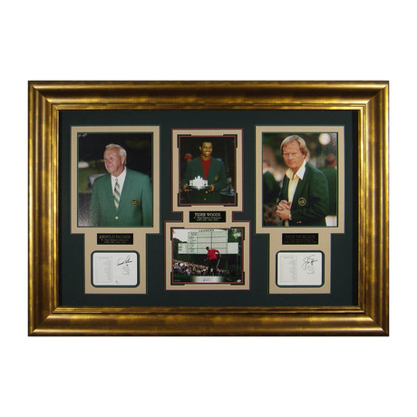 Palmer + Nicklaus + Woods // Masters // Autographed Display