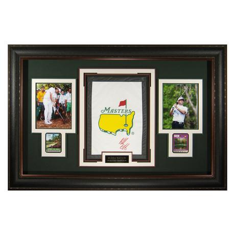 Bubba Watson Masters Banner // Autographed Display